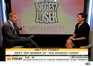 Olivia Ward of 'The Biggest Loser' on 'Today' with Matt Lauer