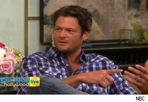 Blake Shelton talks about Christina Aguilera on 'Access Hollywood Live'