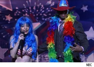 Naked Cowgirl &amp; Nick Cannon, 'America's Got Talent'