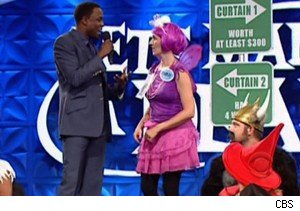 Wayne Brady and Chrissy the Purple Fairy on 'Let's Make A Deal' 