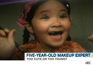 Five-year-old makeup guru Madison Hohrine on 'Good Morning America'