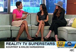 Robin Roberts, Kourtney Kardashian, and Khloe Kardashian on 'Good Morning America'