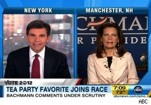 George Stephanopoulos and Michele Bachmann on 'Good Morning America'