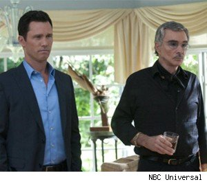 Jeffrey Donovan and Burt Reynolds