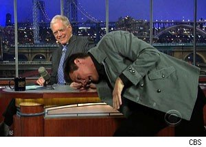 jim carrey, letterman