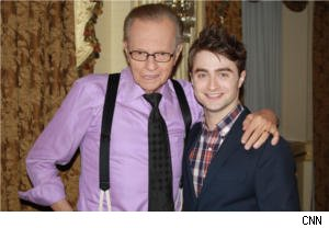 Larry King and Daniel Radcliffe