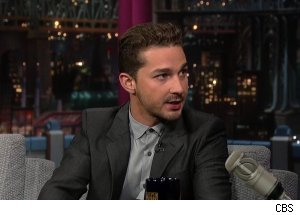Shia LaBeouf, 'Late Show with David Letterman'