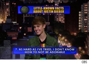 Justin Bieber, 'Late Show with David Letterman'