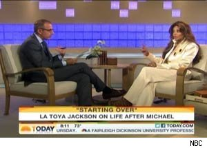 La Toya Jackson sits down with Matt Lauer on 'Today.'