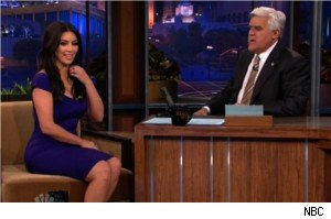 Kim Kardashian and Jay Leno