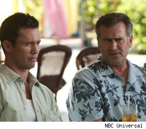 Jeffrey Donovan and Bruce Campbell