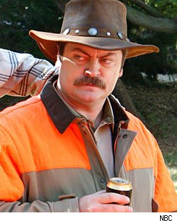 Nick Offerman as Ron Swanson on 'Parks and Recreation'