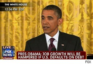 President Obama discusses the debt ceiling on Fox News