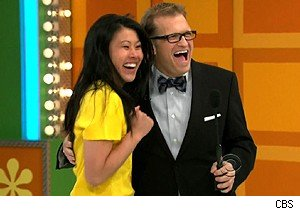 Pamela and Drew Carey on 'The Price Is Right'