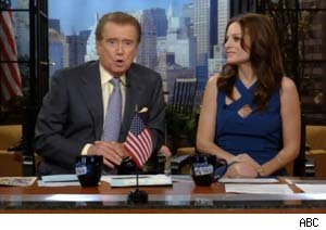 Regis Philbin and Kara DioGuardi on 'Live With Regis and Kelly
