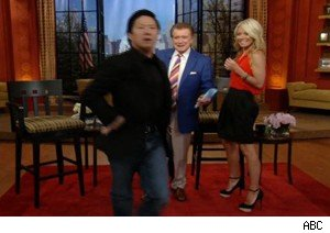 Ken Jeong shows off his moves on 'Live With Regis and Kelly'
