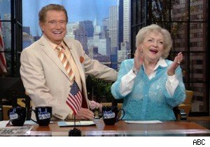 Regis Philbin and Betty White on 'Live With Regis and Kelly'