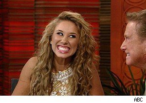 Hayley Reinhart of 'American Idol' with Regis Philbin on 'Live With Regis and Kelly'