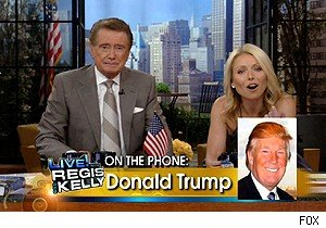 Donald Trump phones it in on 'Live With Regis and Kelly'