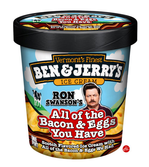 Ron Swanson Ice Cream