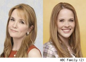 Lea Thompson, Katie Leclerc, Switched at Birth