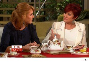 Sarah Ferguson and Sharon Osbourne on 'The Talk'