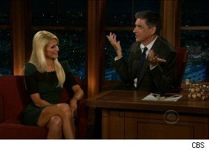 Paris Hilton and Craig Ferguson