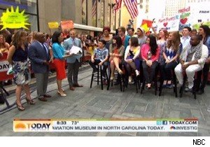 'The Glee Project' contestants on 'Today'