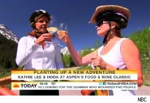 Hoda Kotb and Kathie Lee Gifford enjoy some wine on 'Today'