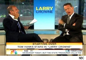Matt Lauer and Tom Hanks on 'Today'