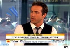Ryan Reynolds talks about 'Green Lantern' on 'Today'