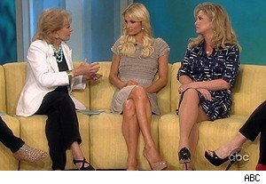 Barbara Walters, Paris Hilton, and Kathy Hilton on 'The View'