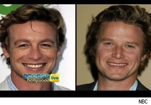 Simon Baker on the left, Billy Bush on the right. We think.