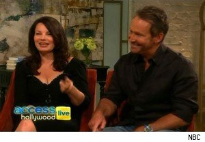 Fran Drescher and Peter Marc Jacobson on 'Access Hollywood Live'