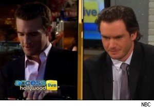 James Van Der Beek and Mark-Paul Gosselaar on 'Access Hollywood Live'