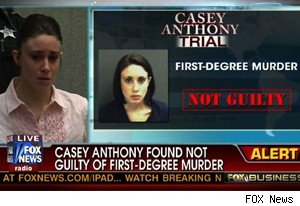 Florida jury declares Casey Anthony 'Not Guilty' in live verdict reading Tuesday