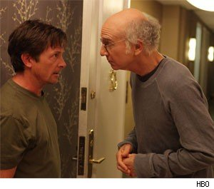 Michael J. Fox and Larry David
