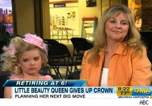 Eden and Mickie Wood of 'Toddlers & Tiaras' on 'Good Morning America'