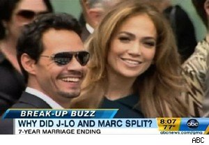 Marc Anthony and Jennifer Lopez on 'Good Morning America'