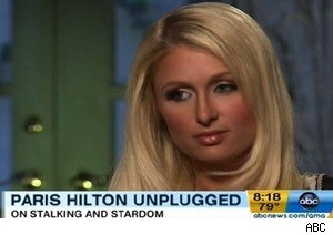 Paris Hilton before walking out of an interview on 'Good Morning America'