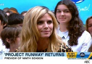 Heidi Klum talks about season nine of 'Project Runway' on 'Good Morning America'