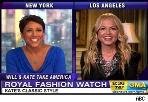 Robin Roberts and Rachel Zoe  critique KAte Middleton on 'Good Morning America'