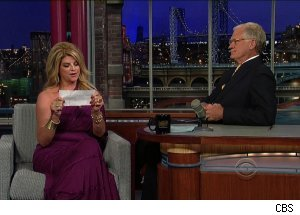 Kirstie Alley, 'Late Show with David Letterman'