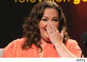 Melissa McCarthy learns about her Emmy nomination on Live TV.