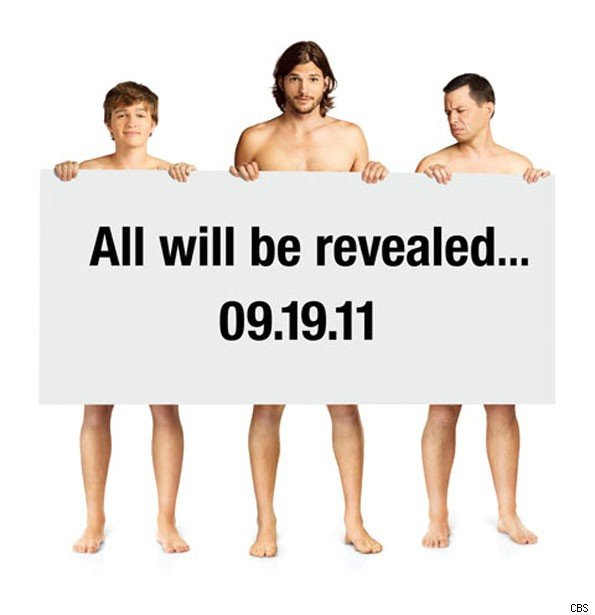 Two and a Half Men Cast Naked