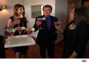 Regis Philbin with his potential buyer and Michele Kleier of 'Selling New York' on 'Live With Regis and Kelly'