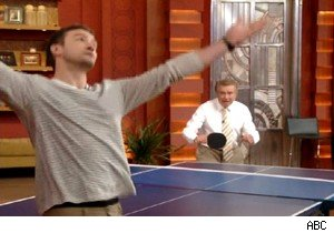 Justin Timberlake and Regis Philbin on 'Live With Regis and Kelly'