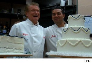 Regis Philbin and Buddy Valastro of 'Cake Boss' on 'Live With Regis and Kelly' 