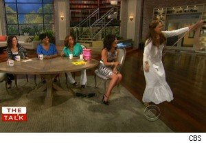 The pantyhose question answered on 'The Talk'