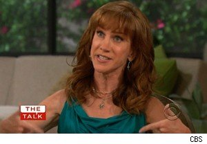 Kathy Griffin points to her 'Pink Button' on 'The Talk'
